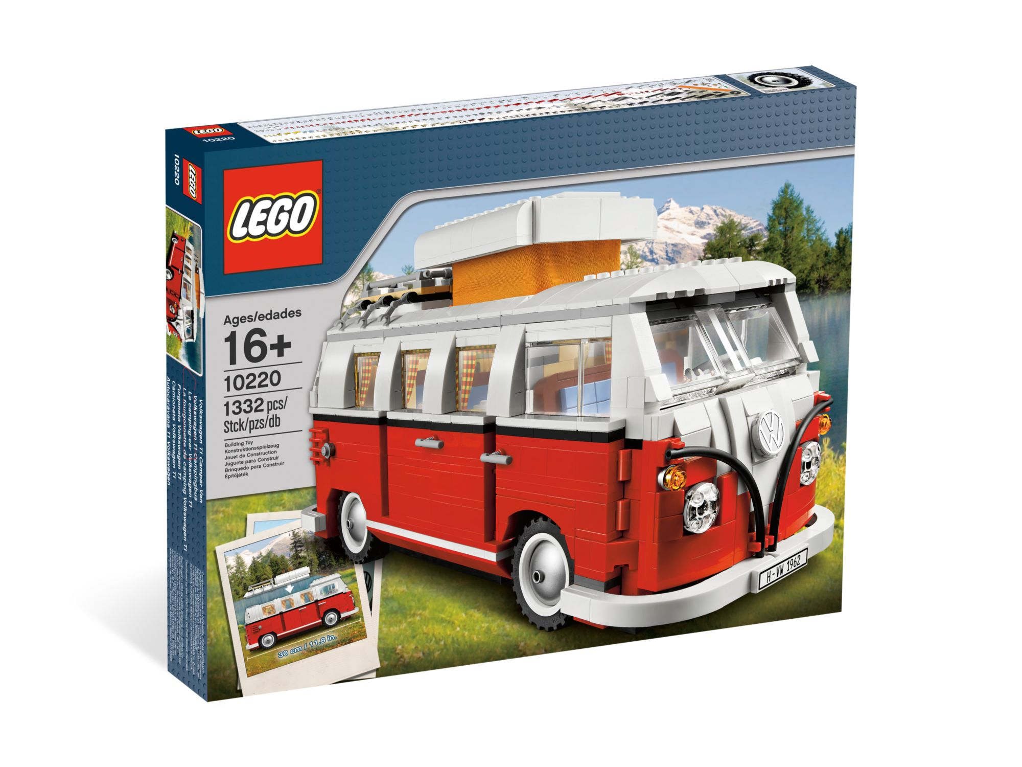 lego volkswagen t1 camper van 10220 modular brick. Black Bedroom Furniture Sets. Home Design Ideas