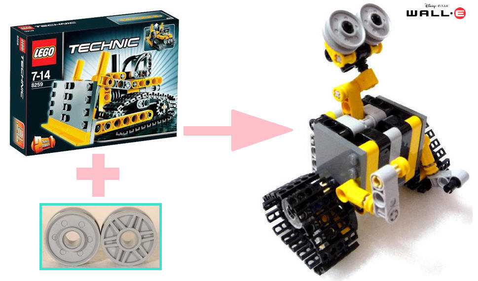 Wall E 8259 Mini Bulldozer
