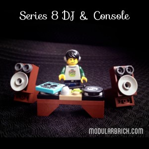 LEGO Collectible Minifigures Series 8 DJ with Custom Console