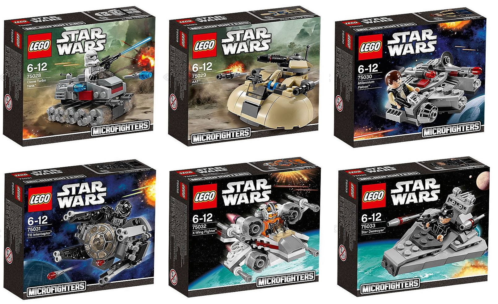 Lego star wars microfighters mini ships with minifigure - Lego star wars 1 2 3 4 5 6 ...
