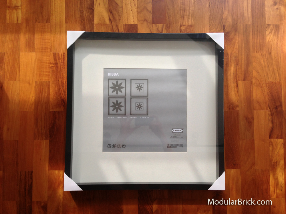 Minifigure Display Ikea Ribba Frame Modular Brick