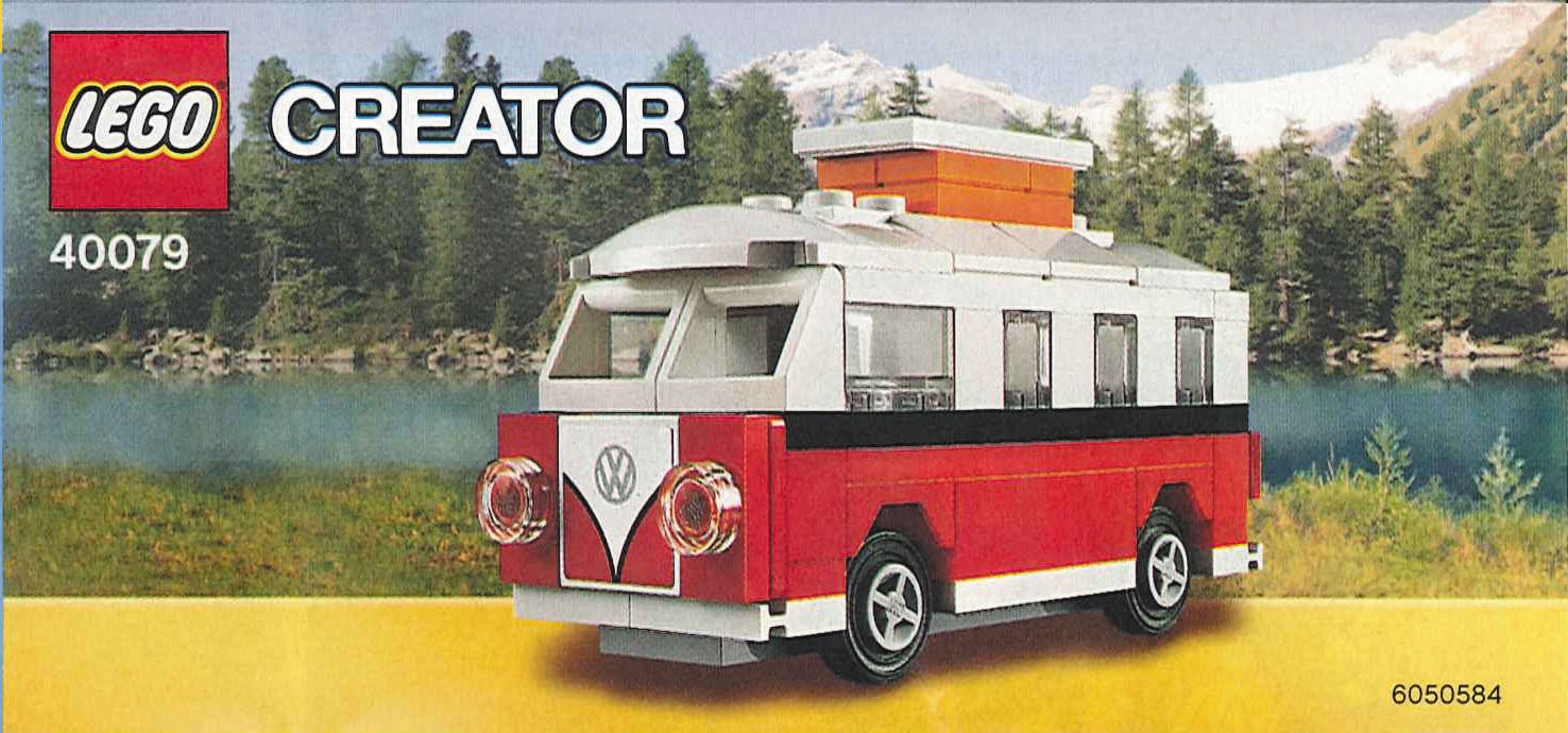 lego mini vw  camper van instructions  modular brick