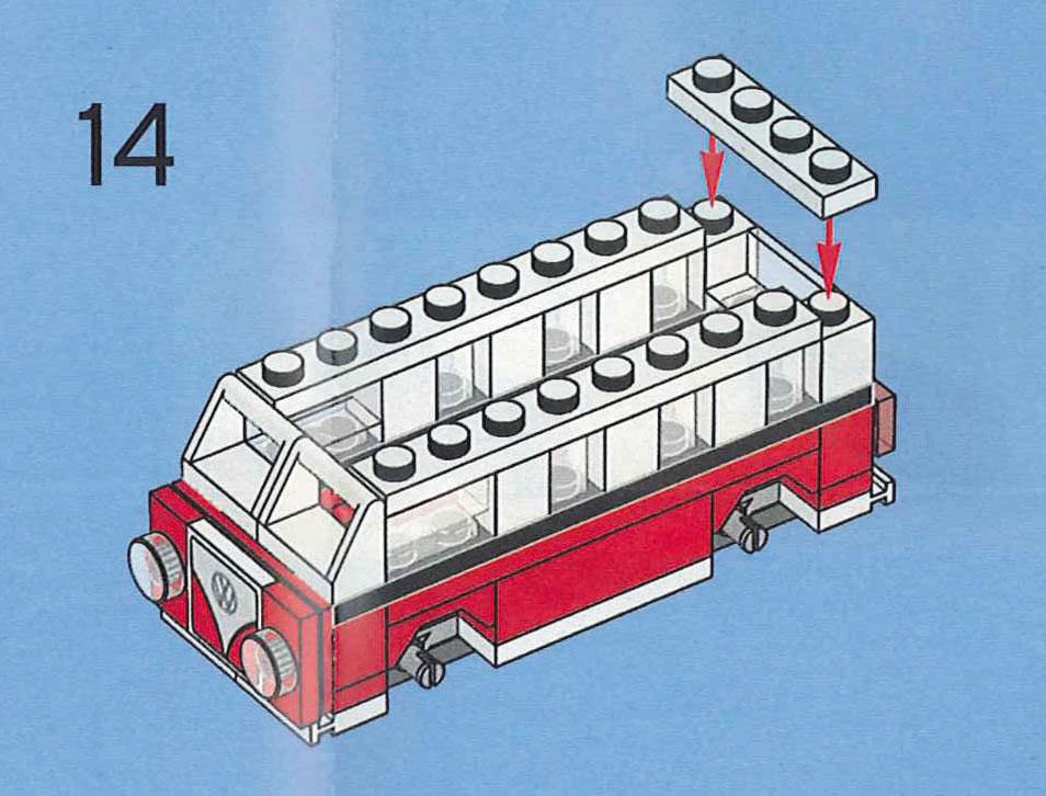 Creator Volkswagen Mini T1 Camper Van 40079 14 Modular Brick